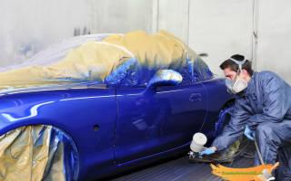 Сколько сохнет автомобильная краска — акриловая, из баллончика и металлик