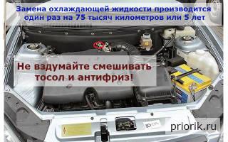 Замена охлаждающей жидкости на Приоре — 16 клапанная модель с кондиционером